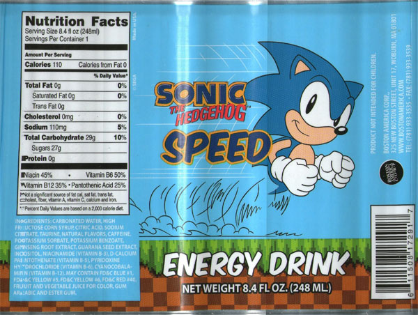 Sonic Speed The Hedgehog [248ml]