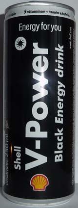 Shell V Power Black Energy Drink 250ml V Power Energy